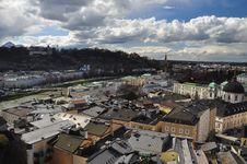 Free Baroque Architecture. Salzburg Cityscape, Austria. Royalty Free Stock Photography - 30503227