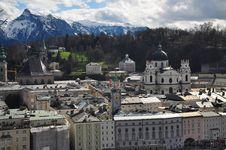 Free Salzburg Cityscape And The Alps, Austria. Stock Photos - 30503233