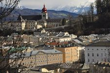 Free Salzburg Cityscape And The Alps, Austria. Stock Photos - 30503253