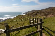 Free South West Coast Path Woolacombe Devon Stock Images - 30504434