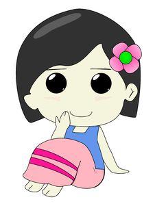 Free Girl Cartoon Stock Photography - 30504742