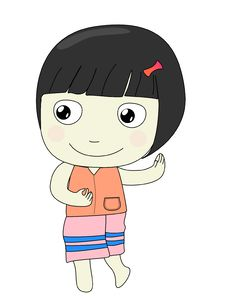 Free Girl Cartoon Royalty Free Stock Photos - 30504748