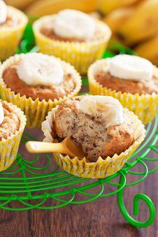 Homemade Vegan Banana Muffins Royalty Free Stock Photos