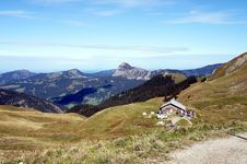 Free An Alpine Hut In The Tannheim Mountains In Tyrol Royalty Free Stock Photography - 30509367