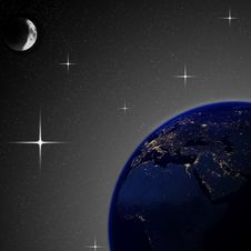 Free Illustration Of Earth At Night &x28;nasa Map&x29; Stock Images - 30509754