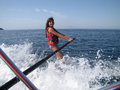 Free Water Skiing Fun Royalty Free Stock Photography - 30510727