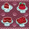 Free Set Of Cakes Royalty Free Stock Photos - 30510868