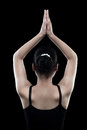 Free Back Of Indian Female Black Dress Royalty Free Stock Images - 30515609
