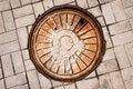 Free Manhole On Road Stock Photo - 30515710