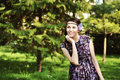 Free Portrait Of A Woman In The Forest Royalty Free Stock Images - 30517439