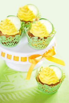 Lime Cupcake Stock Image