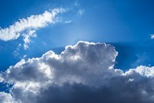 Free Clouds On The Blue Sky Stock Images - 30513234