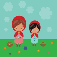 Free Red Riding Hood Sisters Stock Photos - 30514923
