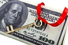 Key With A Dollars Stock Photos
