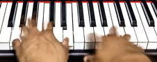 Free Hands On Piano Keyboard Royalty Free Stock Image - 30519686