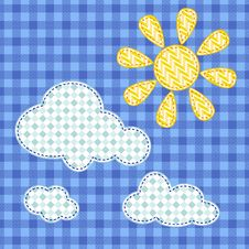 Background With Sun And Clouds In Vector Stock Photos