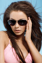 Free Woman With Sunglasses Stock Image - 30522881