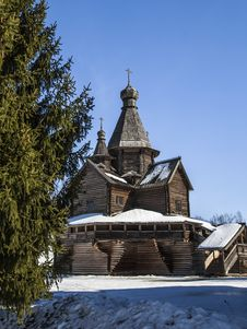 Free Wooden Church Of Nativity Of Virgin, 16th Centry Stock Photo - 30521710