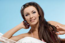 Free Woman Relaxing In A Hammock Royalty Free Stock Photo - 30522865