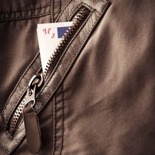 Free Jacket Fragment With Metal Zipper Stock Photos - 30523023