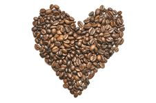 Heart Shape Coffee Beans Stock Photo