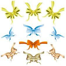 Free Set Of Colored Ribbons For Decoration Royalty Free Stock Photo - 30528675