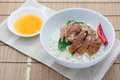 Free Pork Leg With Rice Stock Image - 30537781
