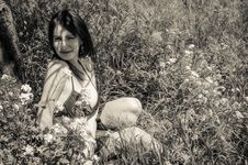 Free Young Woman On Field In Bikini Stock Photos - 30531683