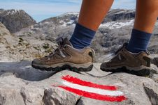 Free Marked Trail And Feet Stock Photo - 30533580