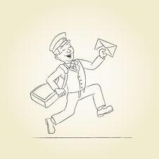 Free Postman Sketch Royalty Free Stock Photo - 30534405