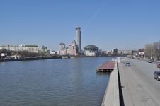 The Moscow Quay. Royalty Free Stock Image