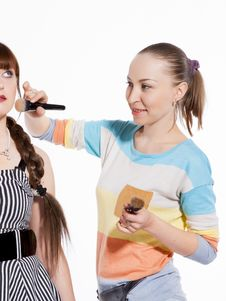 Professional Make-up Stock Image