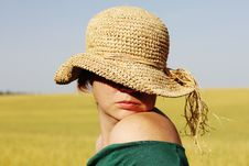 Pretty Woman  In The Hat Stock Photography