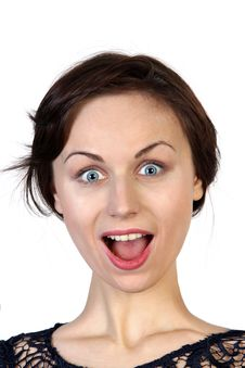 Free Woman Face With Surprised Expression Royalty Free Stock Image - 30538606
