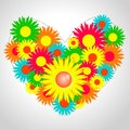 Free Heart With Flowers Stock Image - 30540591