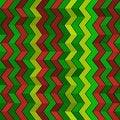 Free Seamless Geometric Green, Red And Yellow Pattern Stock Photo - 30541190