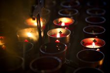 Devotional Candles 01 Royalty Free Stock Photos