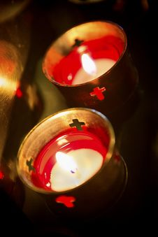 Free Devotional Candles 04 Stock Photo - 30544650