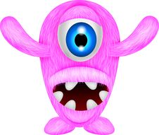 Free Scary Pink Monster Stock Image - 30544881