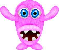 Free Scary Pink Monster Stock Images - 30544894