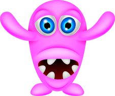 Free Scary Pink Monster Stock Image - 30544961