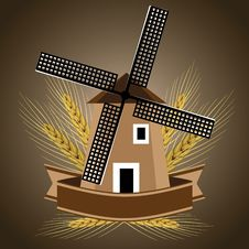 Free Windmill Symbol For Wheat Products Royalty Free Stock Photo - 30545015