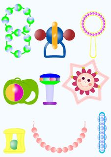Free Toys For The Baby. Royalty Free Stock Image - 30545086