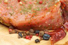 Free Marinated Raw Pork Stock Image - 30547181