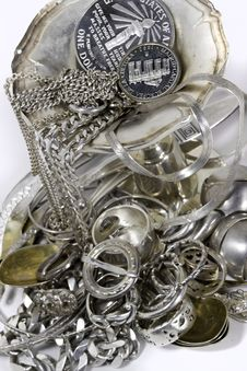 Free Scrap Sterling Silver Royalty Free Stock Images - 30547979