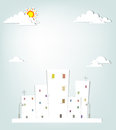 Free Urban Landscape. Vector Applique. Royalty Free Stock Image - 30557256