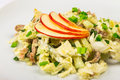 Free Meat Salad With  Apples Stock Photography - 30557642