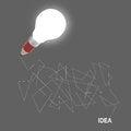 Free 3d Creative Pencil Lightbulb As Concept Creative Stock Image - 30557811