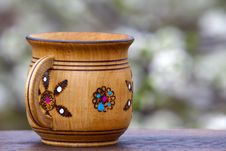 Free Wooden Mug Royalty Free Stock Photo - 30550885