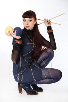 Free Needlework And Knitting Royalty Free Stock Images - 30558369